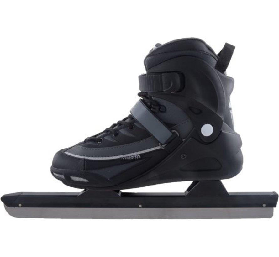 Nijdam 3429 Norwegians Skate Pro-Line - Semi Soft Boot - Black / Gray - Size 39