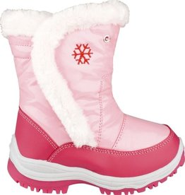 Winter-grip Snowboots Meisjes Lak Bont Roze Maat 27