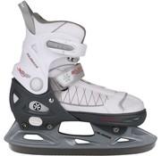 Nijdam Nijdam Junior Eiskunstlauf 3120 - Einstellbare - Semi Soft-Stiefel - Schwarz - Größe 37-40