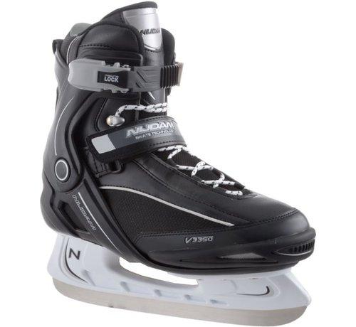Nijdam Nijdam 3350 Ice Hockey Skates - Semi Soft-Stiefel - Schwarz / Weiß - Größe 42