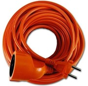 Oranje verlengsnoer 2x1-20mtr.