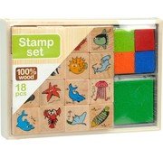 Wooden stamp kit - Zoo