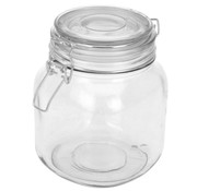 Weckpot / Jar From Glass 11 x 11 x 15 cm - with Sealing cover
