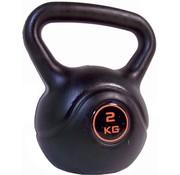 Q4LIFE - Kettlebell - 2 kg - Zwart