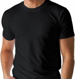 Boru Bamboe Heren T-shirt Ronde Hals Zwart-XL