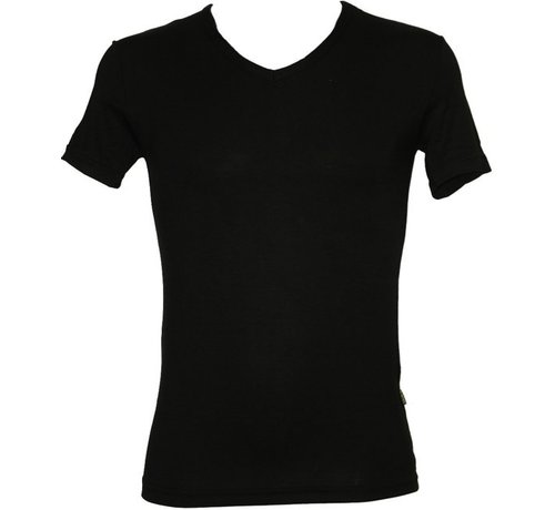 Boru Bamboe Heren T-Shirt V-Hals Zwart-M