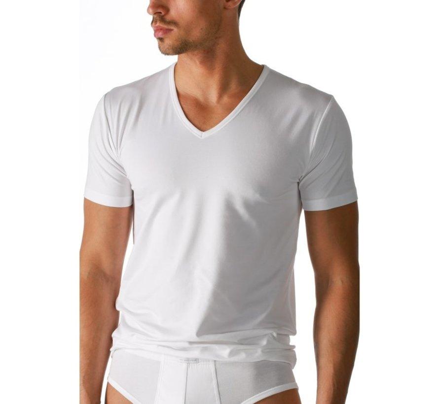 Bamboo Boru   T-Shirt V-Hals   Wit   Maat  x xxl