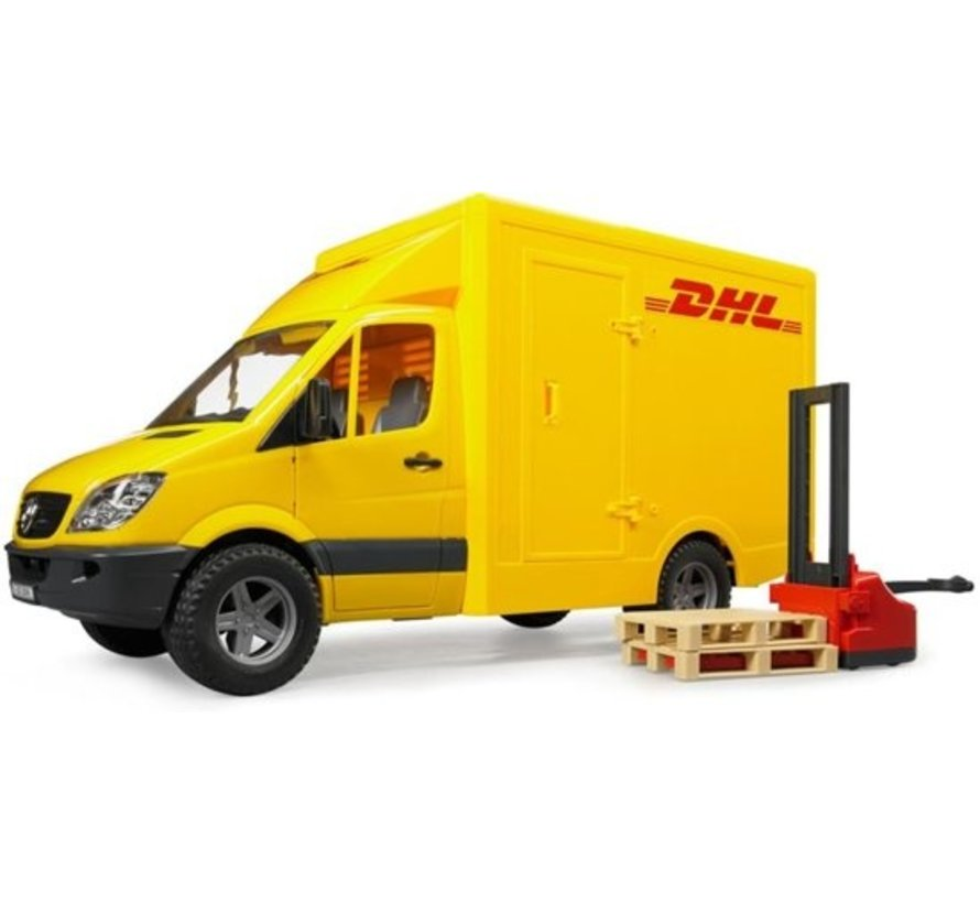 Bruder 02534 - Mercedes-Benz Sprinter with Dhl Pallet And Two Pallets - Playset