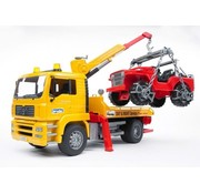 Brüder Bruder 0750 - Man Tga Tow truck with Cross Country Vehicle - Playset
