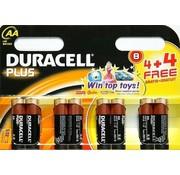 Duracell Plus AA 4 + 4-Pack Einweg-Batterie