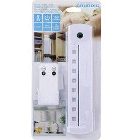 Grundig LED Kastverlichting / Cabinet Lights - Dimbaar - 8 LED - 180 graden roteerbare lichtstrip  Met afstandsbediening (voor aan/uit)