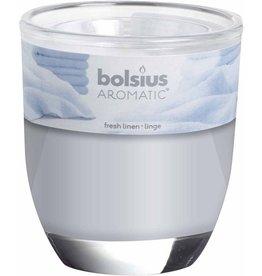 Bolsius Geurkaarsen Fresh Linen wit ( 1 stuk)
