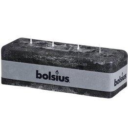 Bolsius antraciet rustiek multi lont kaars 80/250/90 (4 lonten - 52 uur)