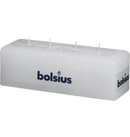 Bolsius wit rustiek multi lont kaars 80/250/90 (4 lonten - 52 uur)