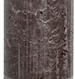 Rustiek stompkaars 190/68 Chocolade brui