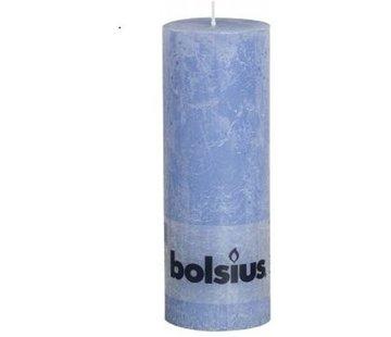 Bolsius Rustiek Stompkaars 190/68 Jeans Blauw