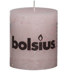 Bolsius Rustiek Stompkaars 100x100 pastel roze