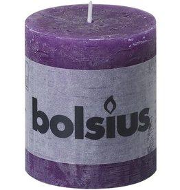 Bolsius Rustieke Stompkaars - 80/68 - Paars - 1 Stuk