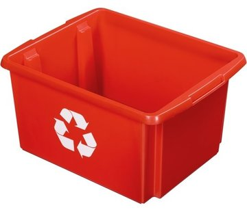 Sunware Sunware Nesta Eco Stowage / recycle box 32 Liter - Color Red