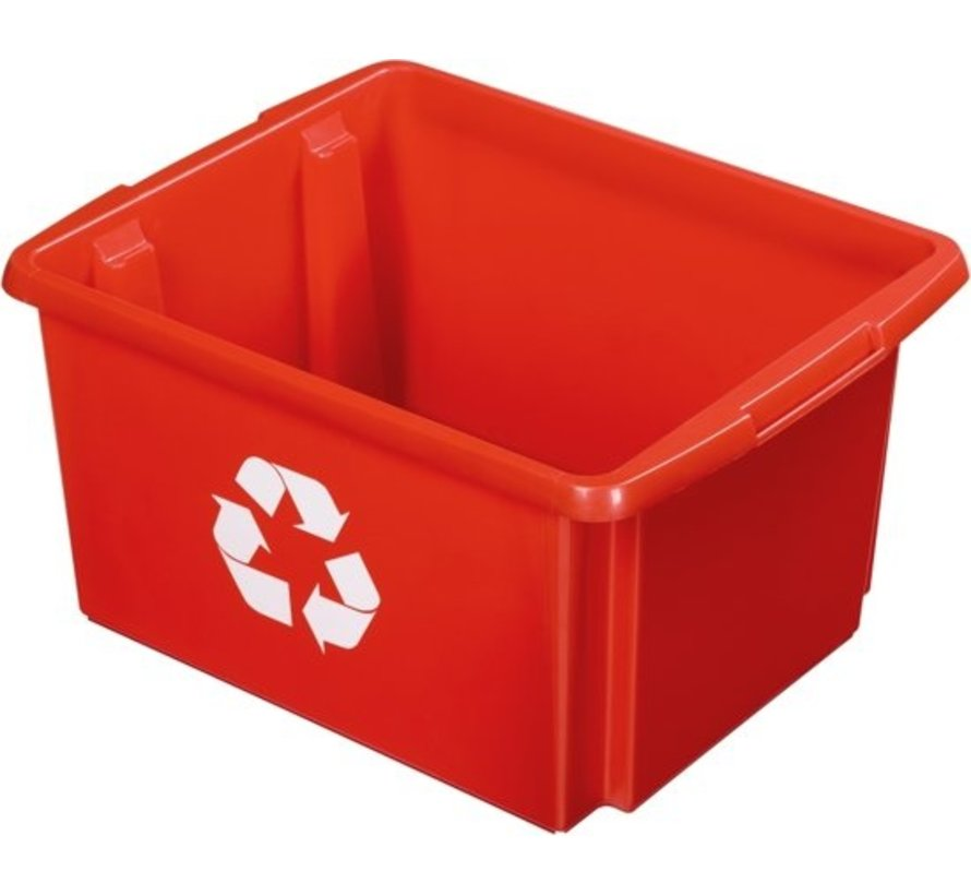 Sunware Nesta Eco Stowage / recycle box 32 Liter - Color Red