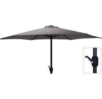 Antraciet Parasol voor tuin en terras | 300 cm met handig opdraaisysteem