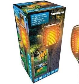 Grundig - Solar LED tuinlamp - vlam effect - Ø12cm x 77cm hoog