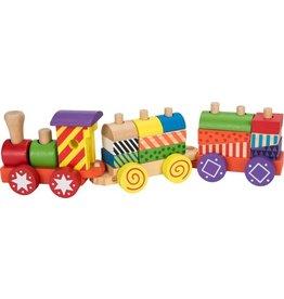 Speelset trein 17-delig - hout - baby speelgoed