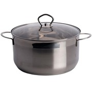 Rvs Large pan with lid (6 Liters)