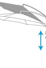 Zweefparasol creme/wit Ø300 cm | in hoogte verstelbaar