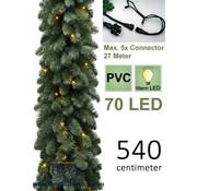 Guirlande met 70 Warm Led Lampjes Geintegreerd - Lengte 540 cm - Max. 5 x  Koppelbaar - Kerst Slinger - 400 Takken