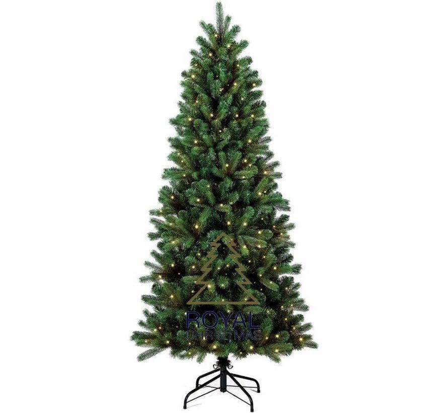 Kunstkerstboom Alaska Slank 180 cm met LED + Smart Adapter | Royal Christmas®