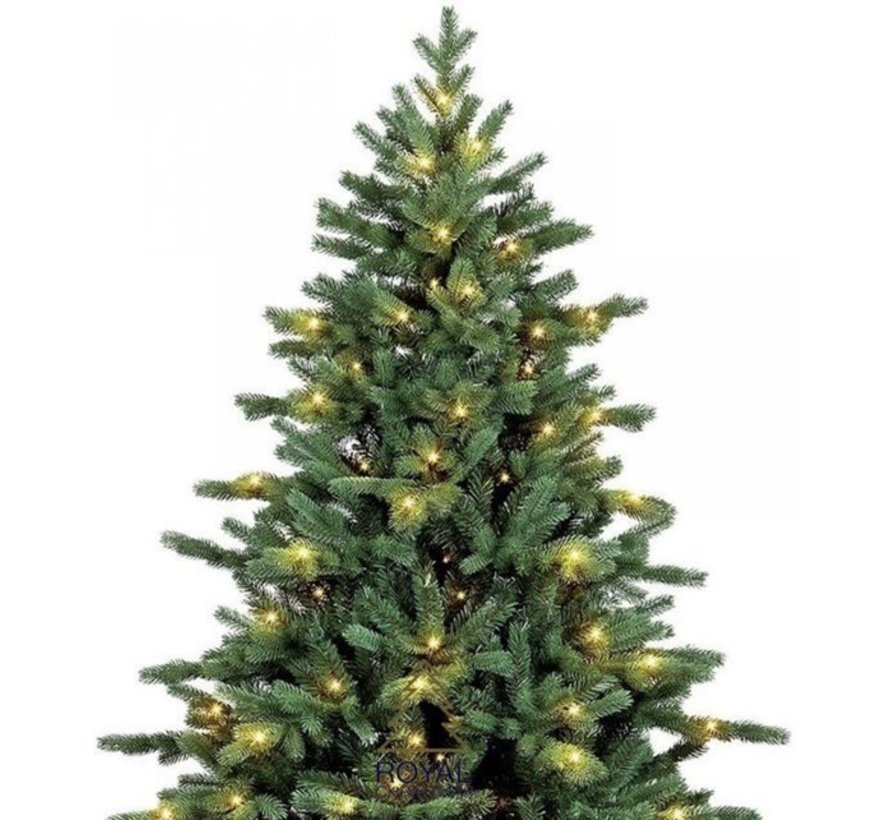 Kunstkerstboom Spitsbergen 240 cm met LED + Smart Adapter | Royal Christmas®