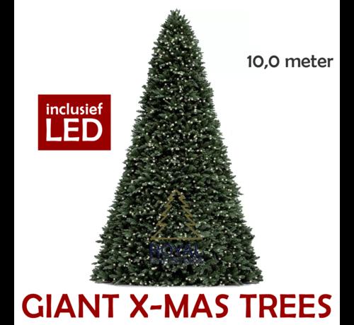 Royal Christmas Grote Kunstkerstboom Giant Tree 10 Meter   Inclusief Led