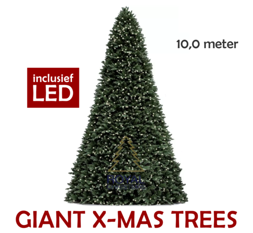 Royal Christmas Large Artificial Christmas Tree Giant Tree 10 Meter | including LED