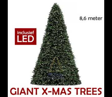 Royal Christmas Große künstliche Weihnachtsbaum Riesenbaum 860 cm | einschließlich LED