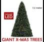 Große künstliche Weihnachtsbaum Riesenbaum 720 cm | einschließlich LED
