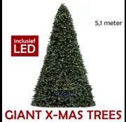 Royal Christmas Große künstliche Weihnachtsbaum Riesenbaum 510 cm | einschließlich LED