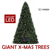 Royal Christmas Large Artificial Christmas Tree Giant Tree 510 cm | including LED