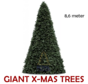 Grote Kunstkerstboom Giant Tree | Hoogte 8,6 Meter