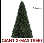 Royal Christmas Grote Kunstkerstboom Giant Tree | Hoogte 5,1 Meter