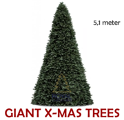 Royal Christmas Large Artificial Christmas Tree Giant Tree | Height 5.1 Meter