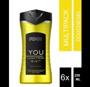 6-Pack Ax Body Wash 6 in 250 ml of 1 Fresh