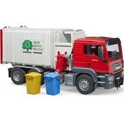 Brüder Man TGS Müllwagen mit Seitenstapler BRUDER