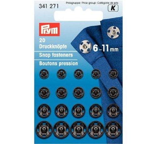 Prym Aannaaidrukknopen 6 - 11 Mm 20 Stuks 341 271