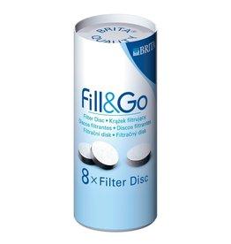 BRITA Filter Disc 8-Pack - 8 stuks voor de 1e generatie fill&go
