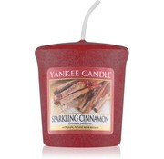Yankee Candle Sparkling Cinnamon - Scented Candle - 49 Grams - Red - 4 Operating hours