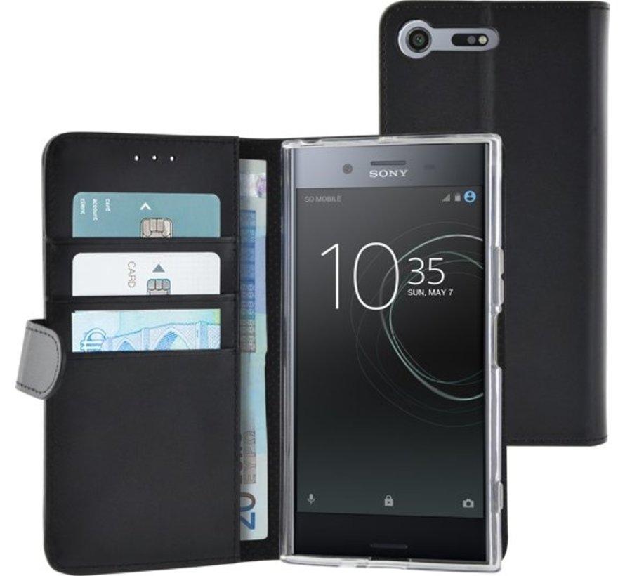 Azuri Wallet Case Magnetic Closure & Card Slots - Black - Sony peria x x z Premium