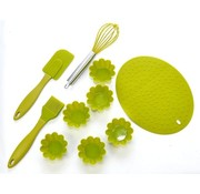 Bakgerei set - siliconen - groen