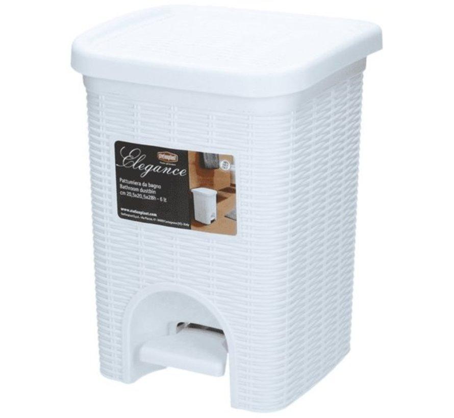 Treteimer - Weiß - 6 Liter