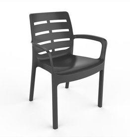 Plastic stoel - Antraciet - 61x56x82 cm